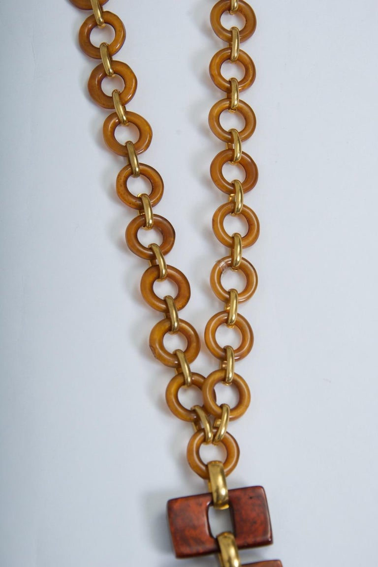 Dominique Denaive Resin Necklace In Excellent Condition For Sale In Alford, MA