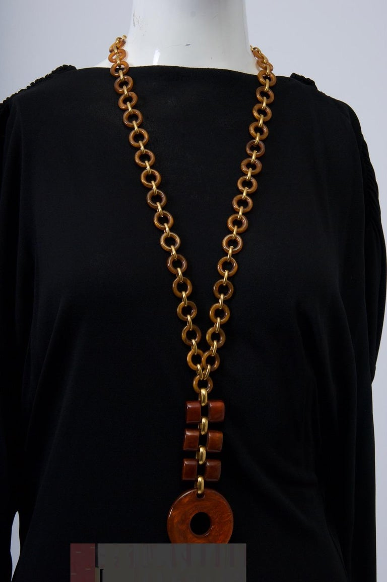 Dominique Denaive Resin Necklace For Sale 1