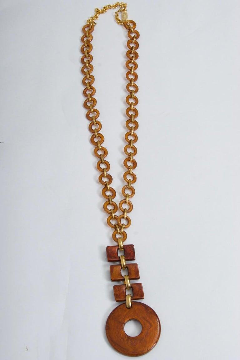 Dominique Denaive Resin Necklace For Sale 2
