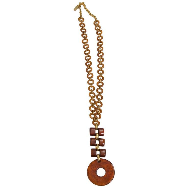 Dominique Denaive Resin Necklace For Sale