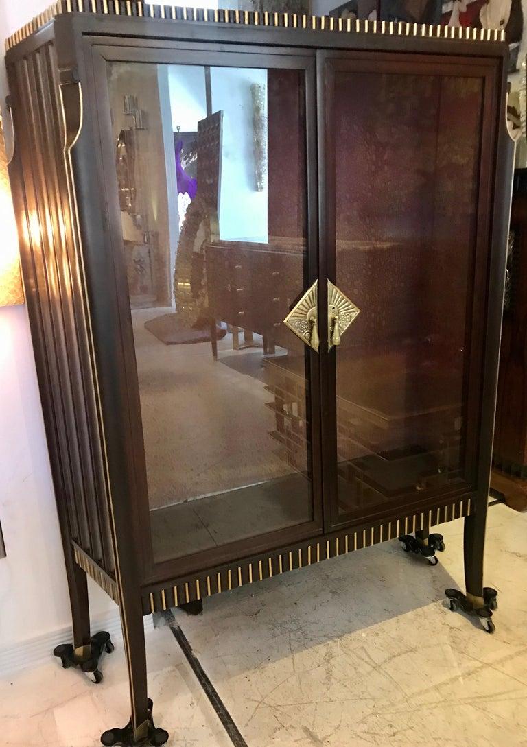 Dominique French Art Deco Vitrine Showcase For Sale 5