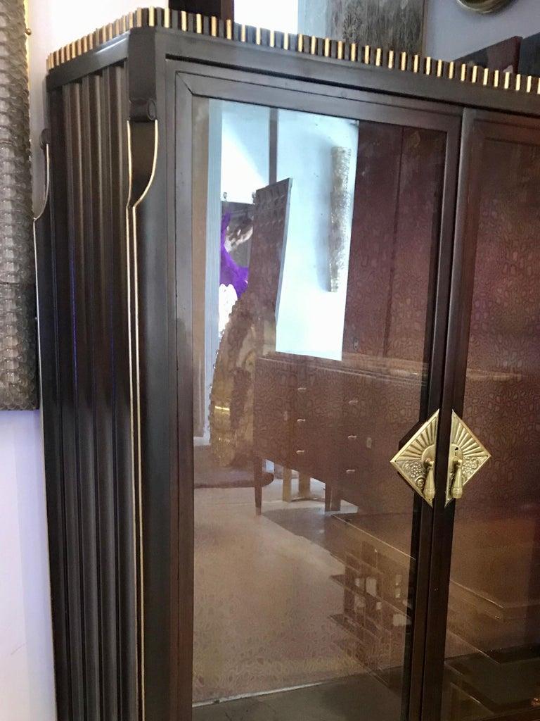 Dominique French Art Deco Vitrine Showcase For Sale 1