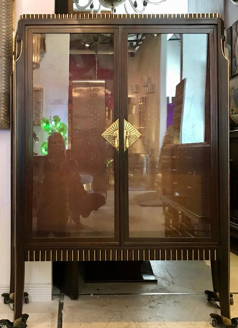 Dominique French Art Deco Vitrine Showcase For Sale 3