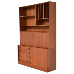 Domino Møbler Teak Bookcase Wall Unit, Denmark, 1960