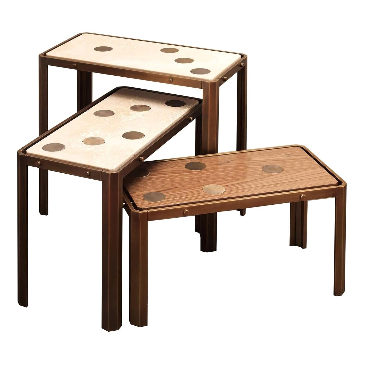 Domino Set of 3 Nesting Tables by Ciarmoli Queda Studio