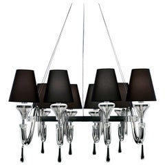 Domo Maryland 7037 Chandelier in Black Shades, by Franco Raggi, Barovier&Toso