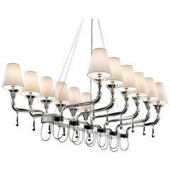 Domo Nevada 7032 Chandelier in White Shade, by Franco Raggi from Barovier&Toso