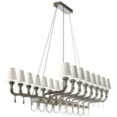 Domo Nevada 7033 Chandelier in Glass with White Shade, by Franco Raggi from