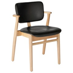 Domus Chair in Oak and Upholstered Leather by Imari Tapiovaara & Artek