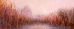 Evening Wetlands 200105, Painting, Acrylic on Canvas