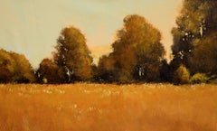 Golden Field Tree Line 6.19, Painting, Acrylic on Canvas