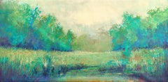 Green Meadow 200204, Painting, Acrylic on Canvas