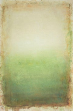 Morning Green 200819, green minimalist abstract., Painting, Acrylic on Canvas
