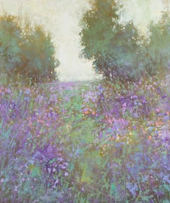 Spring Flower Field 190826, Painting, Oil on Canvas