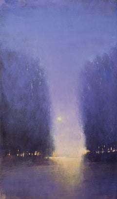 Violet Moonrise 200110, Painting, Acrylic on Canvas