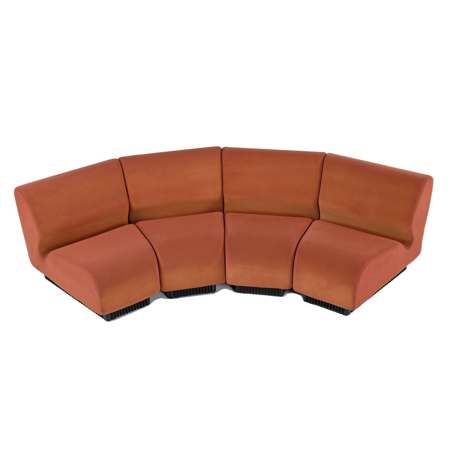 Don Chadwick Modular Curved Wedge Sectional Sofa Couch For