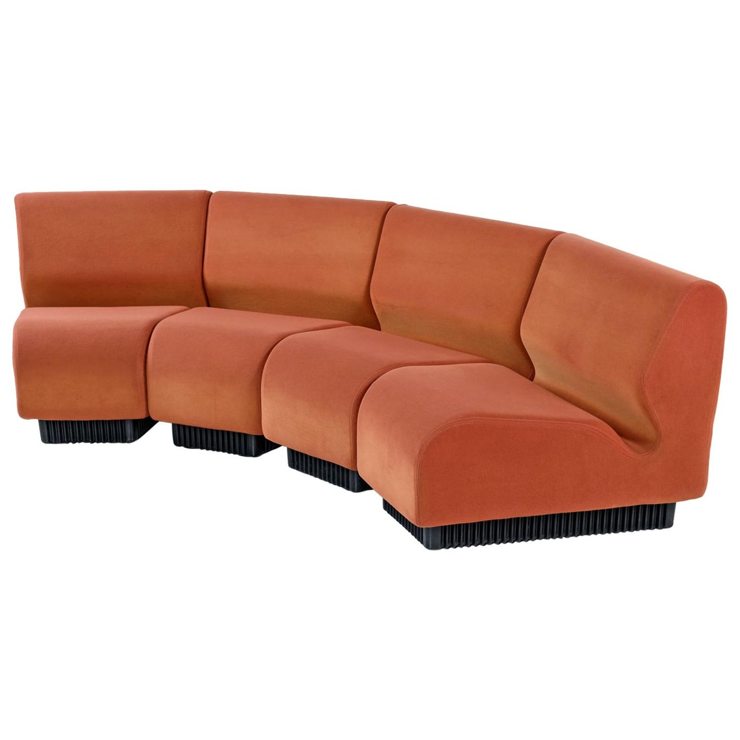 Don Chadwick Modular Curved Wedge Sectional Sofa Couch for Herman ...