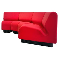 Don Chadwick Modular Sofa Elements Easy Chairs Herman Miller Bright Red Fabric
