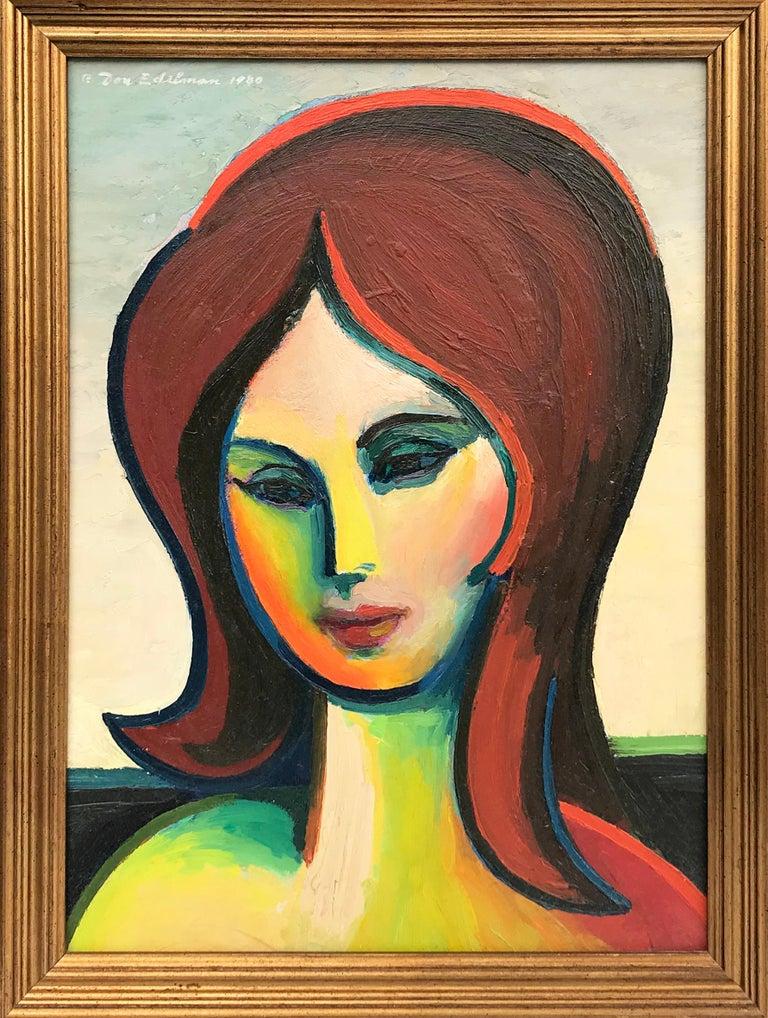 Don Edelman Portrait Painting - Untitled Portrait of a Woman