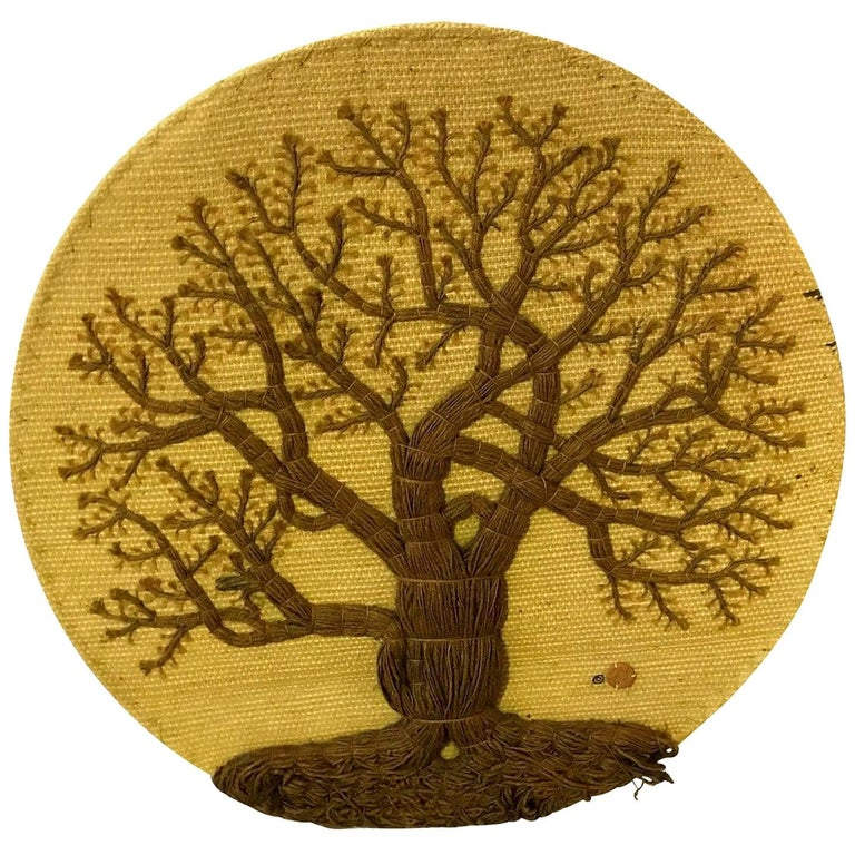Don Freedman Fabulous Mid-Century Modern Tree of Life Tapestry Wall Hanging 1978 For Sale