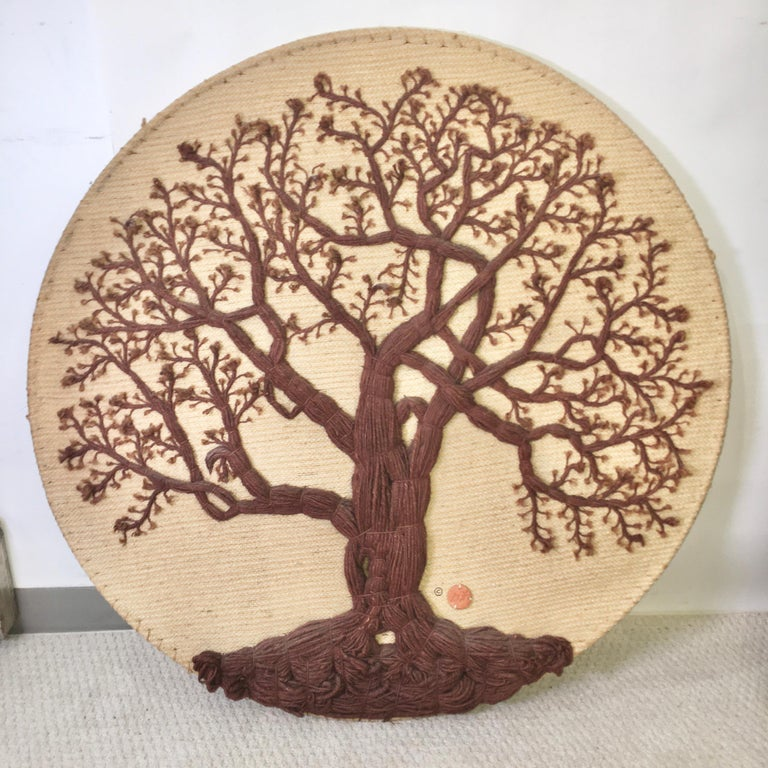 Mid-Century Modern Don Freedman Tree of Life Woven Fiber Art For Sale