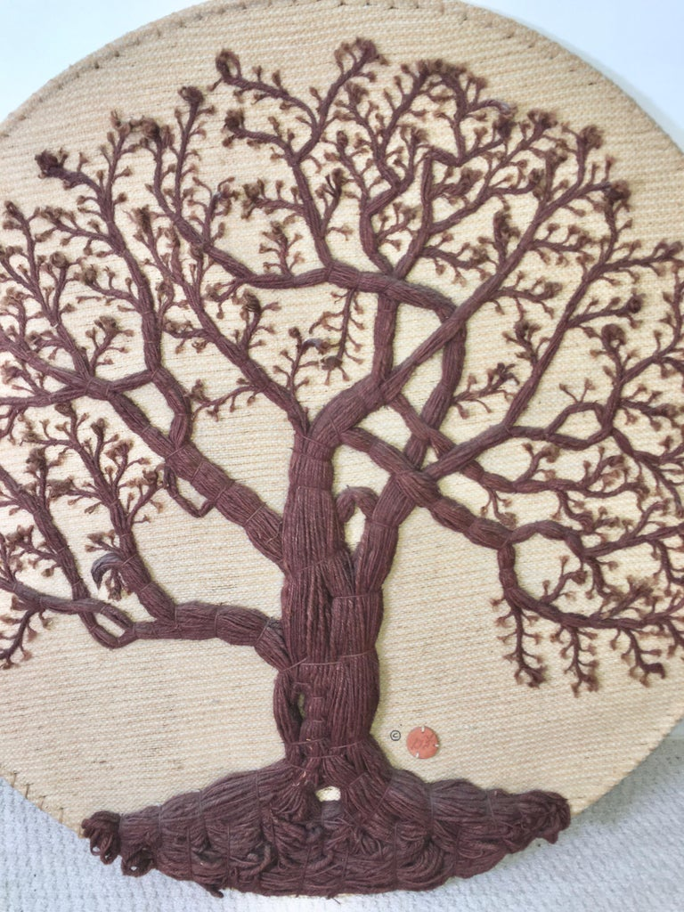 Indian Don Freedman Tree of Life Woven Fiber Art For Sale