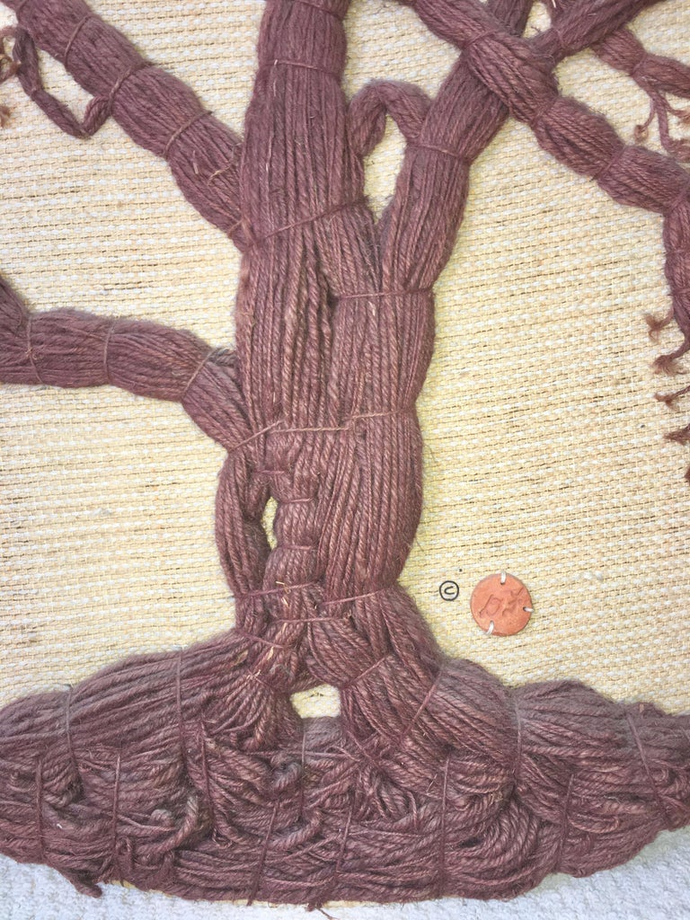 Don Freedman Tree of Life Woven Fiber Art In Good Condition For Sale In Hingham, MA