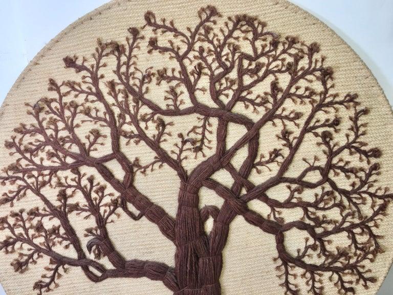 Late 20th Century Don Freedman Tree of Life Woven Fiber Art For Sale