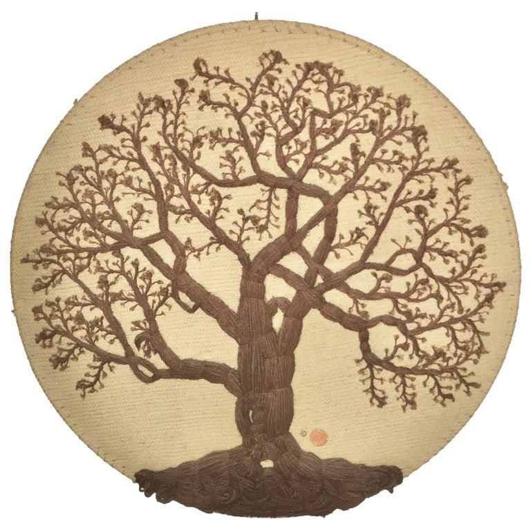 Don Freedman Tree of Life Woven Fiber Art For Sale