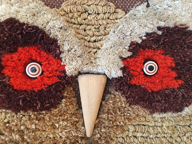 Indian Don Freedman Woven Owl Tapestry For Sale