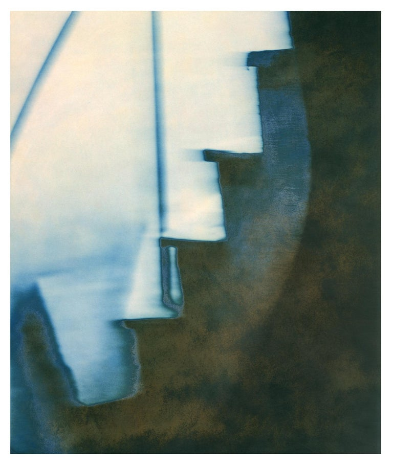 Don Freeman Stairs 1999 Digital print on archival Hahnemuele photo rag paper from a hand-toned silver Gelatin print. Edition of 5  This work was recently framed for an exhibition in 2019 in a silver leaf wood frame and is in perfect condition.  Don
