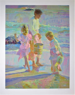 """Daughters"" Large color original serigraph"