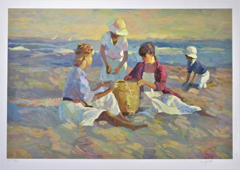 "Don Hatfield Landscape Print - ""The Basket"" Original color serigraph"