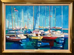 Vibrant Sailboats On The Water