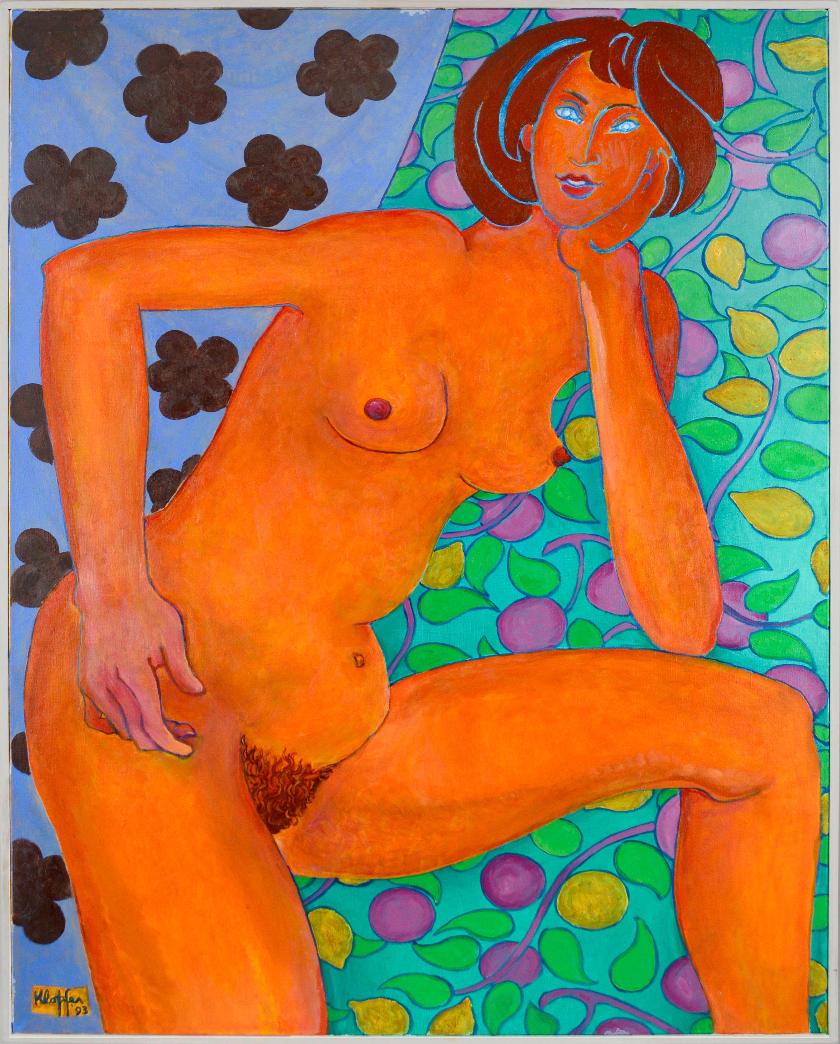 Portrait of a Woman - Fauvist Nude Figurative
