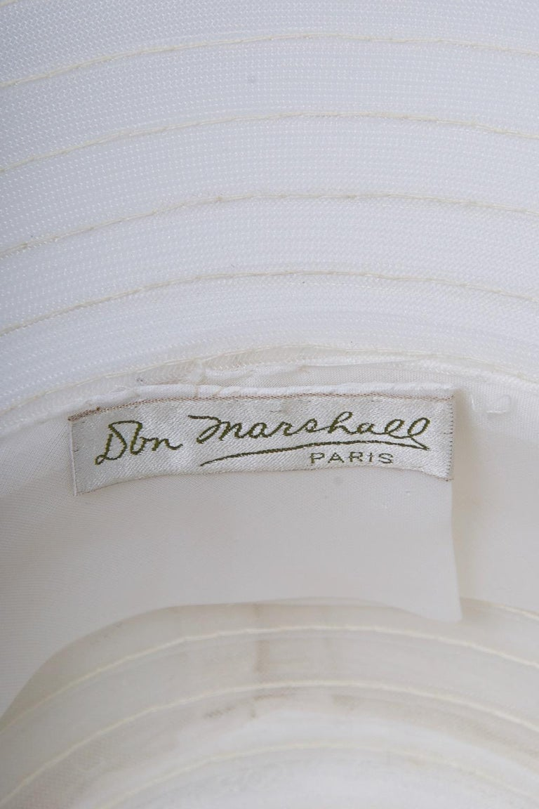 Don Marshall Wide-Brimmed White Hat For Sale 3