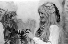 Brigitte Bardot Smiling with Camera on the Set of Viva Maria Fine Art Print