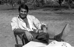 George Hamilton Relaxing Behind the Scenes of Viva Maria Fine Art Print