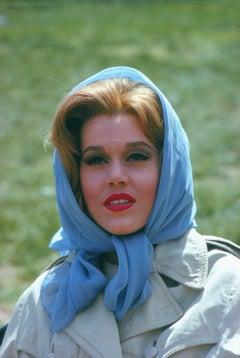 Jane Fonda in Headscarf Fine Art Print