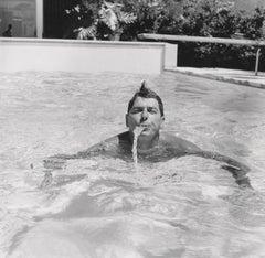Ronald Reagan Swimming Fine Art Print