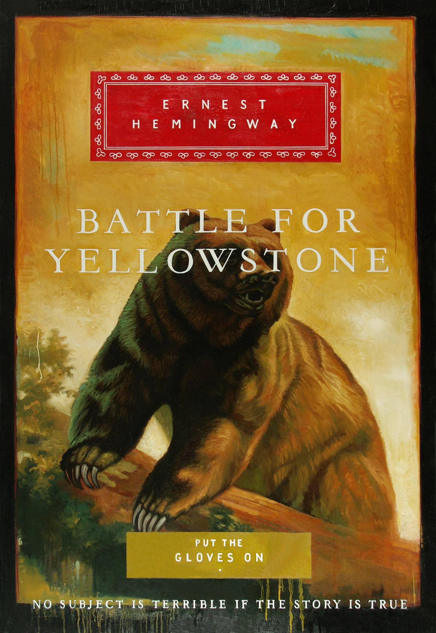 Battle For Yellowstone, Original Oil Painting of Oversized Fictional Bookcover