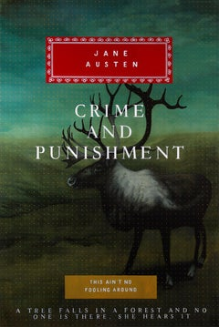 Crime and Punishment - Painting of Fictional Oversized Book Cover