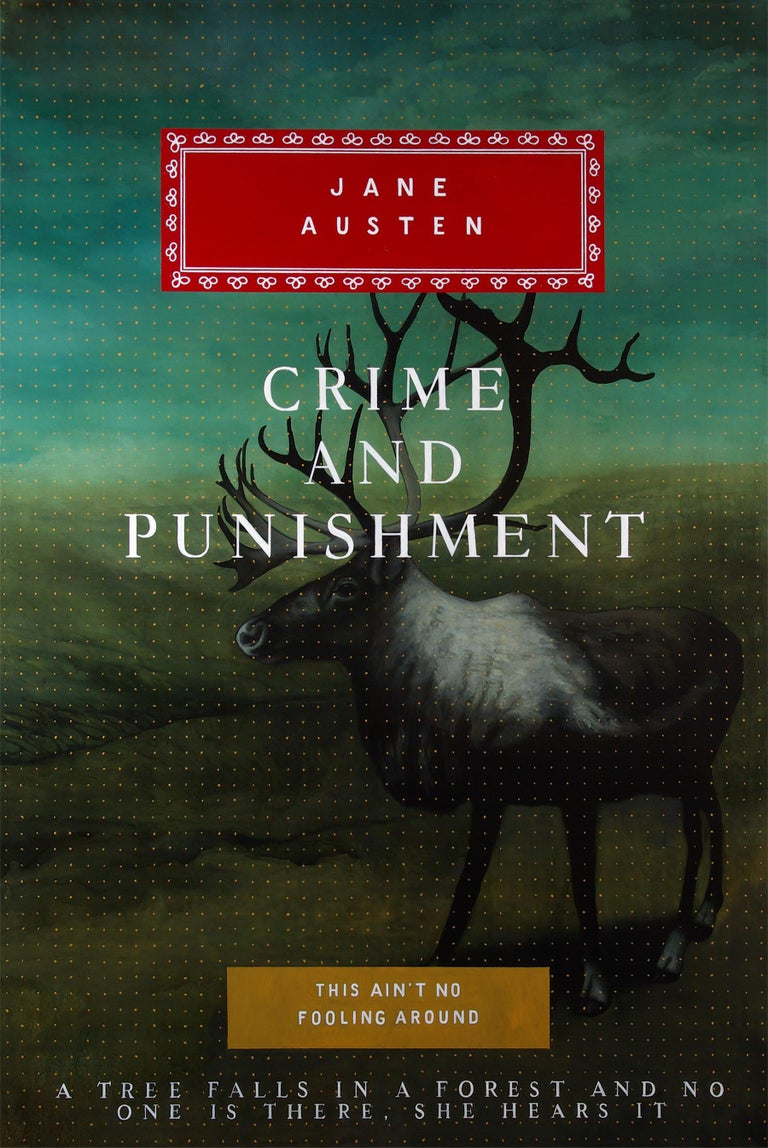 Don Pollack Animal Painting - Crime and Punishment - Original Oil Painting of Fictional Oversized Book Cover