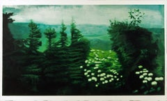 East Cape, Serene Landscape in Rich Greens and Blues, Oil on Canvas
