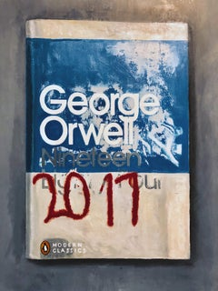 George Orwell, 2017 - Original Oil Painting of Fictional Oversized Book Cover