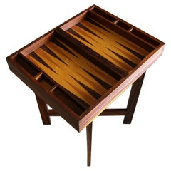 Don Shoemaker Cocobolo Rosewood Backgammon Game Table for Señal, circa 1970