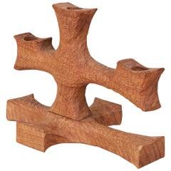 Don Shoemaker for Señal Hand Carved Candelabra
