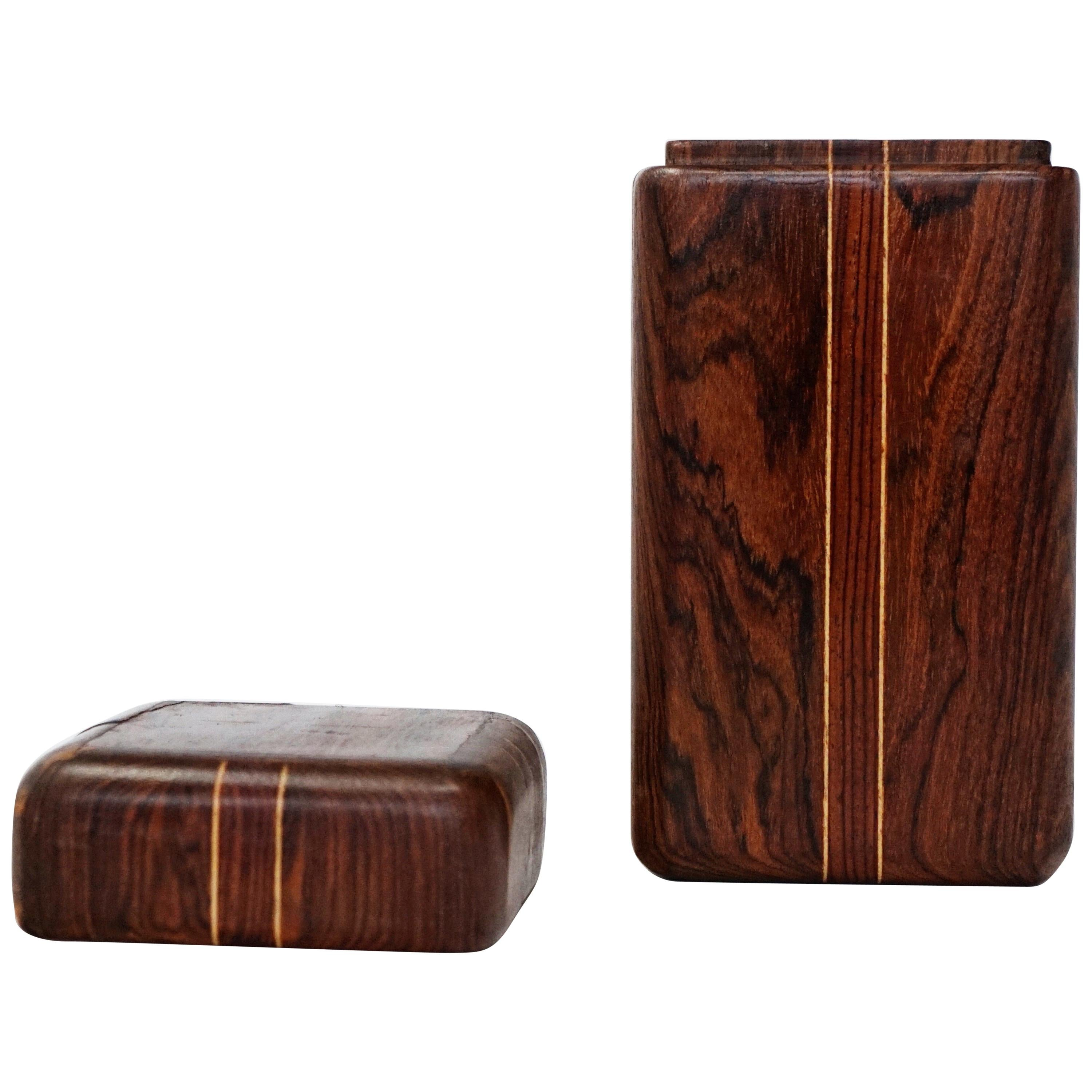 Don Shoemaker for Senal S.A. Cocobolo Rosewood Lidded Box, Signed