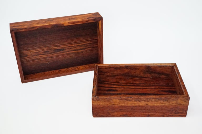 Don Shoemaker for Senal S.A. Cocobolo Rosewood Lidded Catch-All Box, Signed For Sale 7