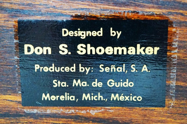 Don Shoemaker for Senal S.A. Cocobolo Rosewood Lidded Catch-All Box, Signed For Sale 8